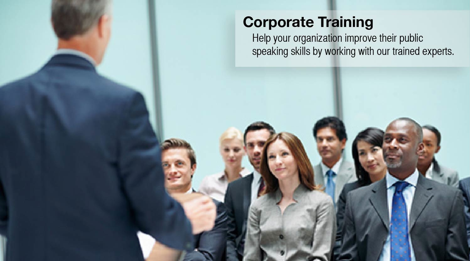 Corporate Public Speaking Training for your organization.