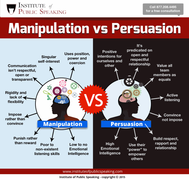 manipulation not persuasion Influence people with the 10 second rule and not persuasion and manipulation the 10 second rule will keep the conversation open.
